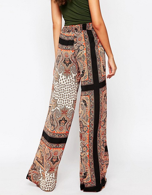 Glamorous Tall 70'S Printed Palazzo Trousers | AS