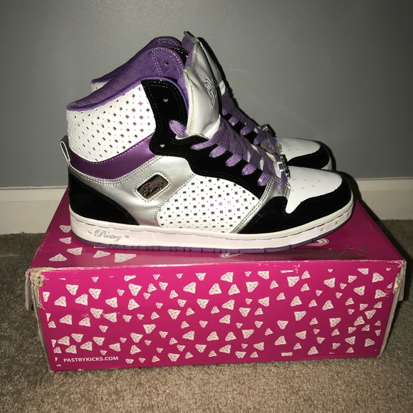Pastry Shoes | Purple High Top Sneakers | Poshma