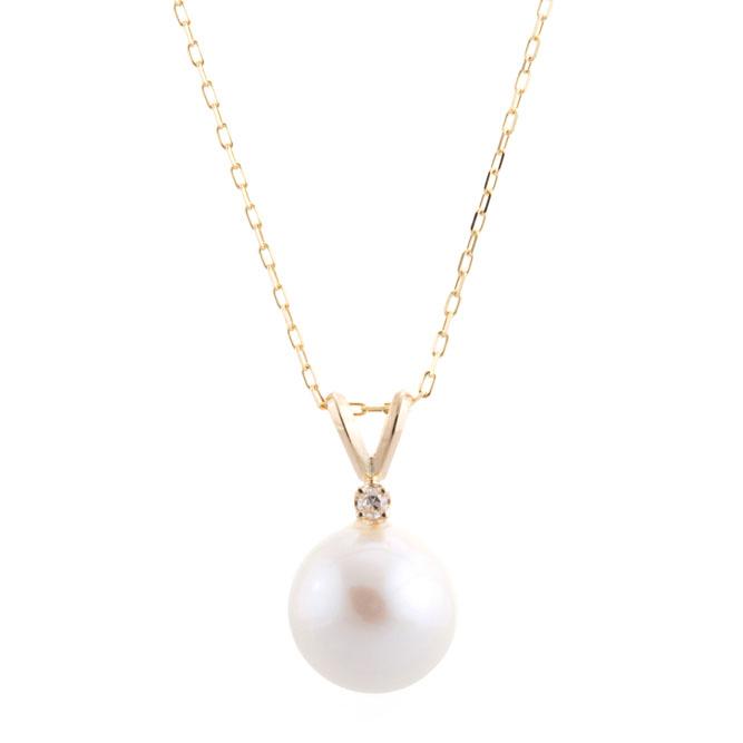 Pearl with Diamond Necklace - Christine K Jewel