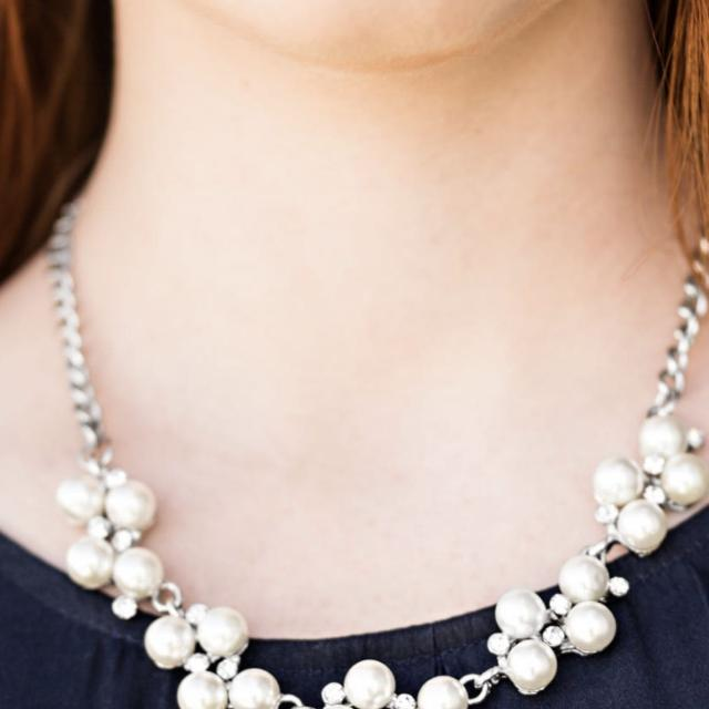 Best Paparazzi Necklace And Bracelet With Faux Pearl And Diamond .
