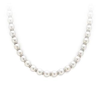 Bridal Jewelry: Pearl & Diamond Necklace Stra