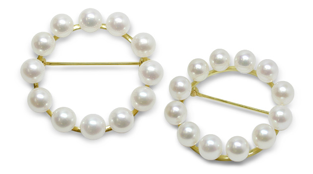 Pearl Circle a Cultured Pearl Brooch | American Pea