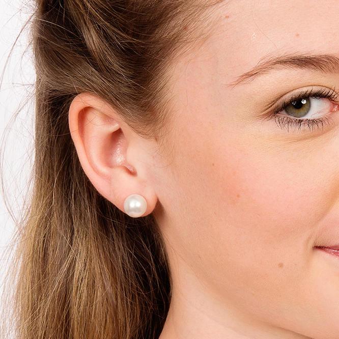 Nickel Free Pearl Earrings - Buy Titanium Stud Earrin