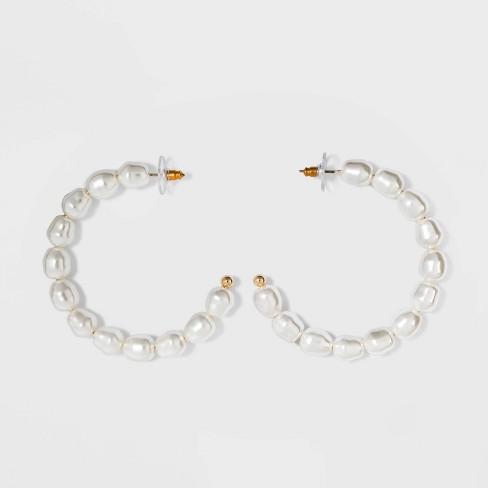 SUGARFIX By BaubleBar Pearl Hoop Earrings - Pearl : Targ