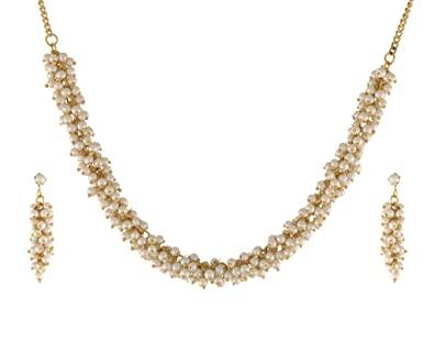 Buy Classique Designer Jewellery Beautiful White Pearl Jewellery .