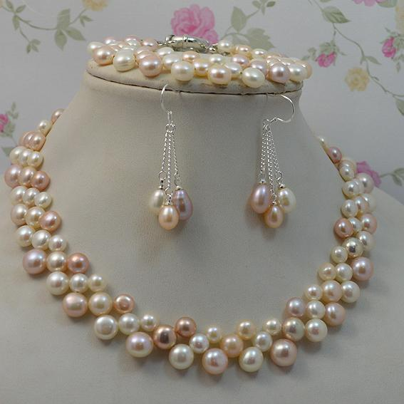 2020 Natural Pearl Jewellery Multicolor Woman Freshwater Pearl .