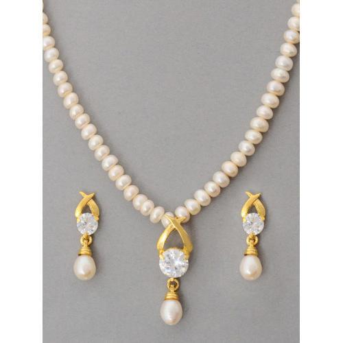 Pearl Jewellery Set at Rs 1250 /set | पर्ल का हार का .