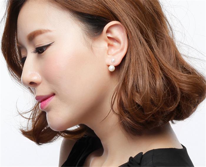 Wholesale Fine High Quality Fashion Crystal Pearl Stud Earrings .