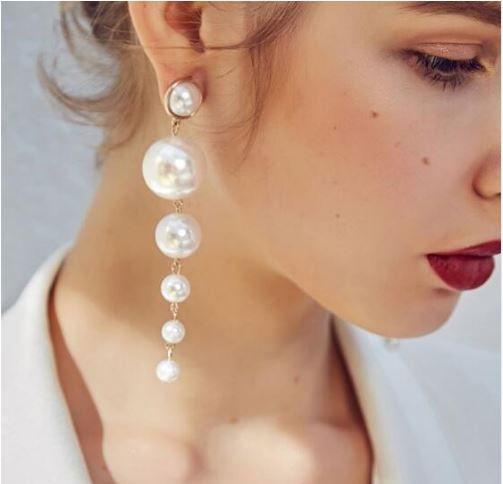 Earrings women s pearl earrings long drop fashion jewelry Zabar
