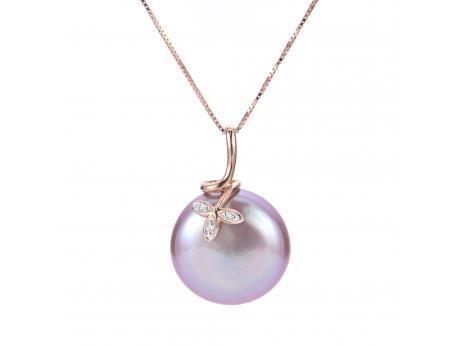 14K Rose Gold Freshwater Pearl Pendant 983358/RG18 | Cravens .
