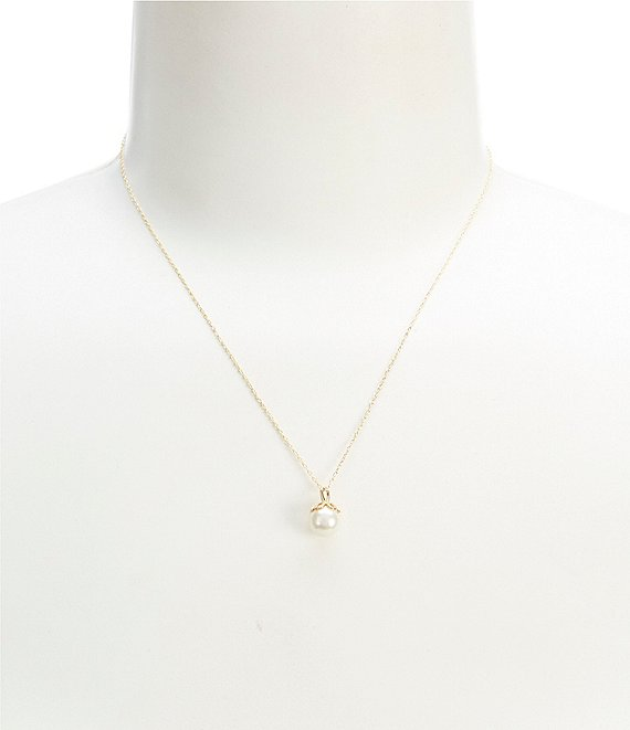 kate spade new york Mini Pearl Pendant Necklace | Dillard