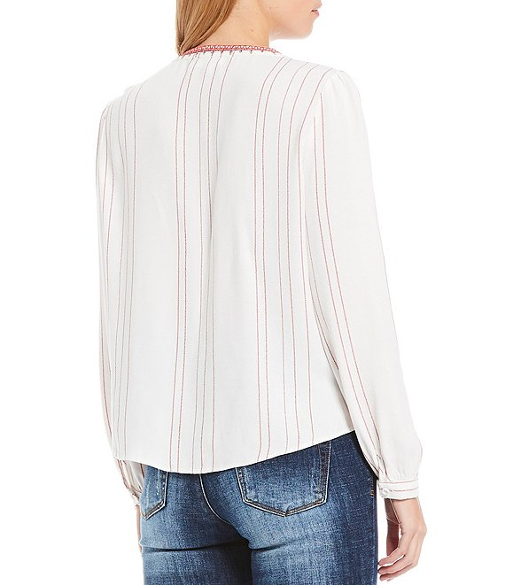 A Loves A Embroidered Trim Peasant Blouse | Dillard
