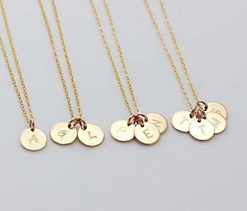 Amazon.com: 1 2 3 4 Circle Initial Pendant Necklace, Customized .