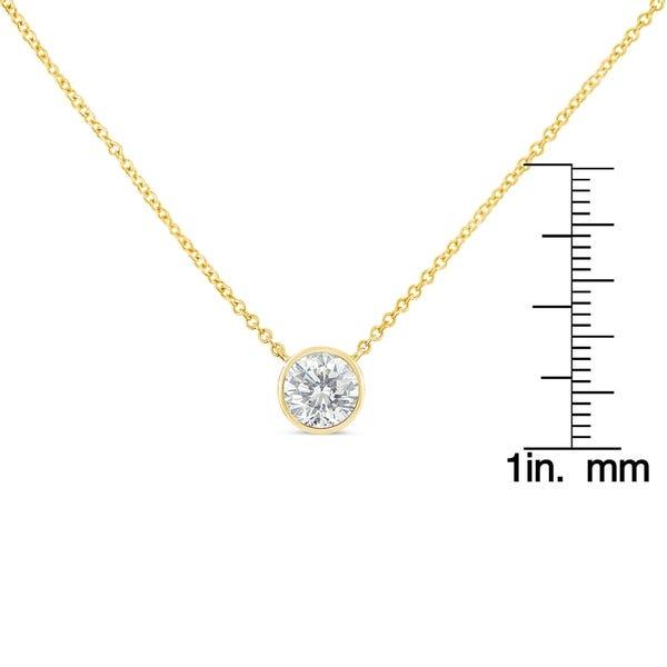 Shop 10K Gold 0.5ct. TDW Bezel-Set Diamond Solitaire Pendant .