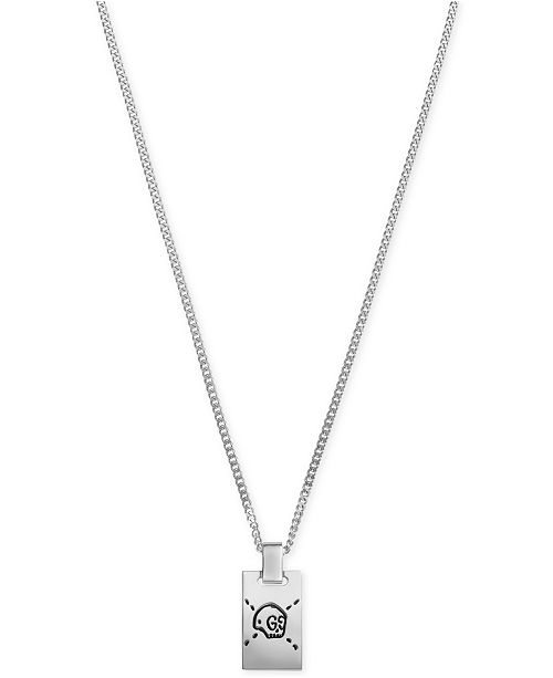 Gucci Men's Gucci Ghost Sterling Silver Pendant Necklace & Reviews .