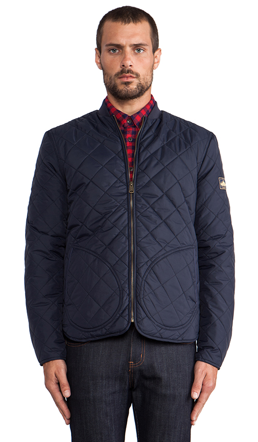 Penfield Landrum Quilted Jacket in Navy | REVOL