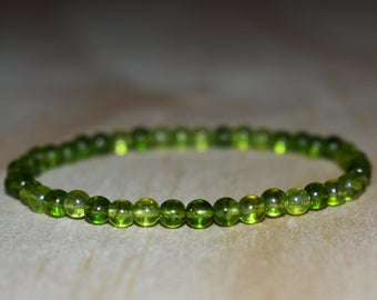 4mm Natural Peridot Bracelet for Women Men Bracelet Peridot | Et