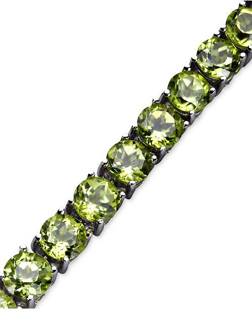 Macy's Sterling Silver Bracelet, Peridot Bracelet (18 ct. t.w. .