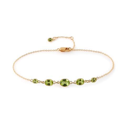 Five Stone Bezel Set Peridot Bracelet – Amy Holton Desig