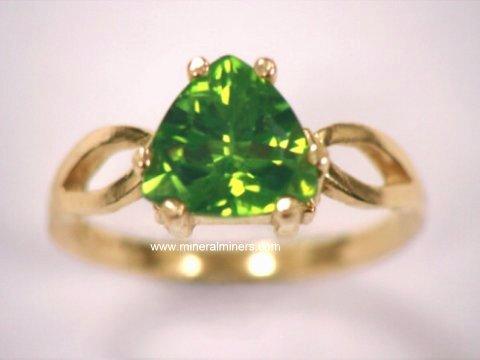 Peridot rings: 14k Gold Peridot Rings & Sterling Silver Peridot Rin