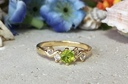 Amazon.com: Peridot Ring - August Birthstone - Birthstone Ring .