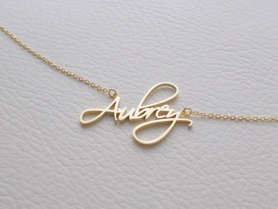 Mother's Day Gift - Custom Name Necklace - Personalized Name .