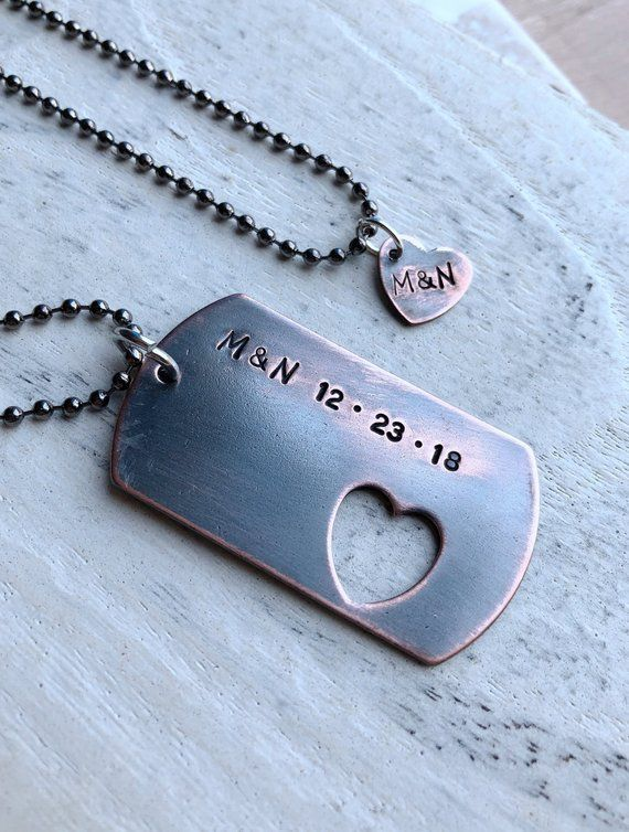 Custom couples necklaces, custom necklace, Personalized necklaces .