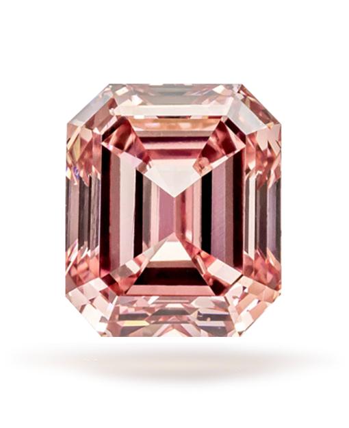 0.53 ct Fancy Intense 'Argyle' Pink Emerald Cut VS2 | Guildhall .