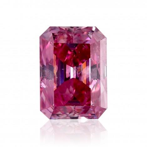 1.12 carat, Fancy Vivid Purple Pink Diamond, Emerald Shape, (I1 .
