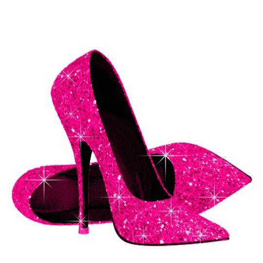 Elegant Hot Pink Glitter High Heel Shoes #1193836 - PNG Images - PNG