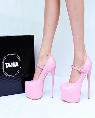 Mary Jane Light Pink High Heel Platform Shoes – Tajna Cl