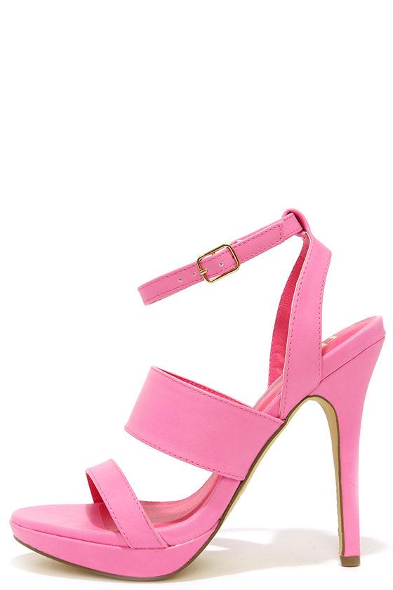Cute Pink Heels - High Heel Sandals - $23.