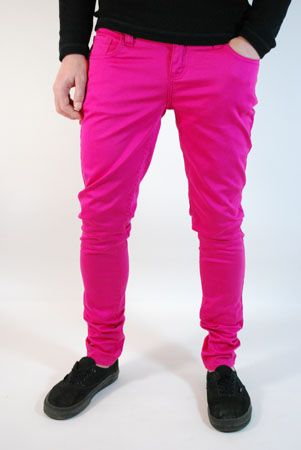 Mens Clothing UK | Monkee Genes | Supa Skinny Pink Jeans .