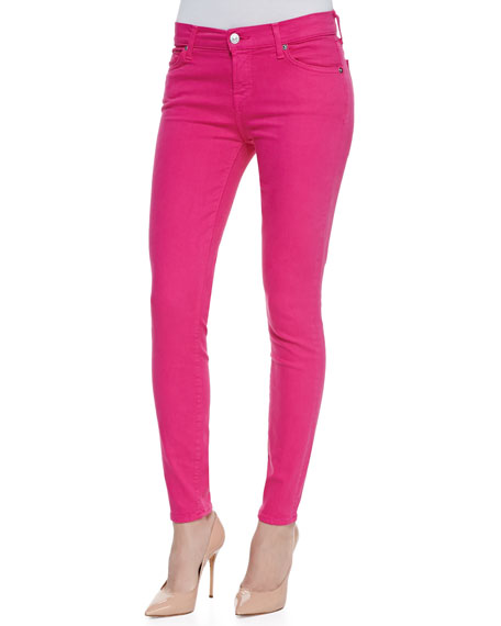 7 for all mankind Slim Illusion Skinny Jeans, Hot Pink | Neiman Marc
