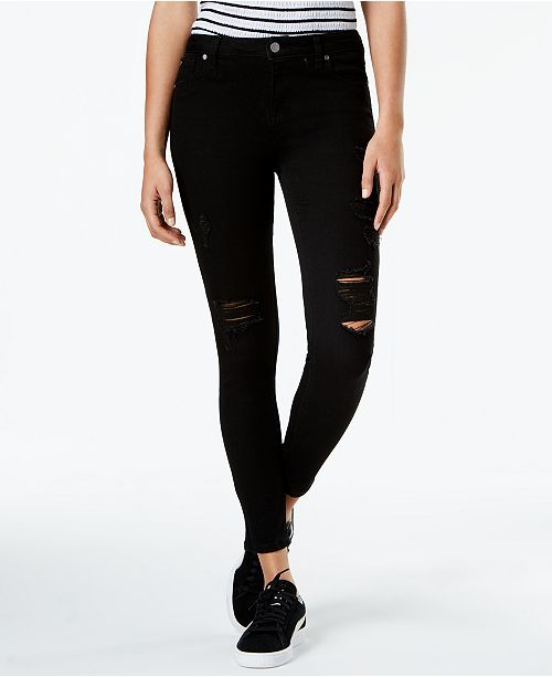 Celebrity Pink Juniors' Ripped Ankle Skinny Jeans & Reviews .