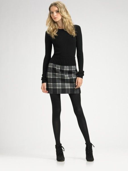 Chic plaid skirt outfit | Plaid skirt outfit, Fashion, Skirt outfi