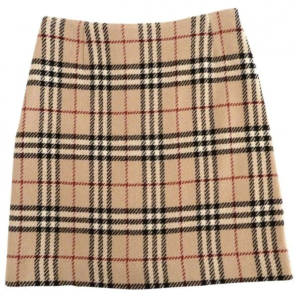 TARTAN SKIRT BURBERRY ($76) ❤ liked on Polyvore featuring skirts .