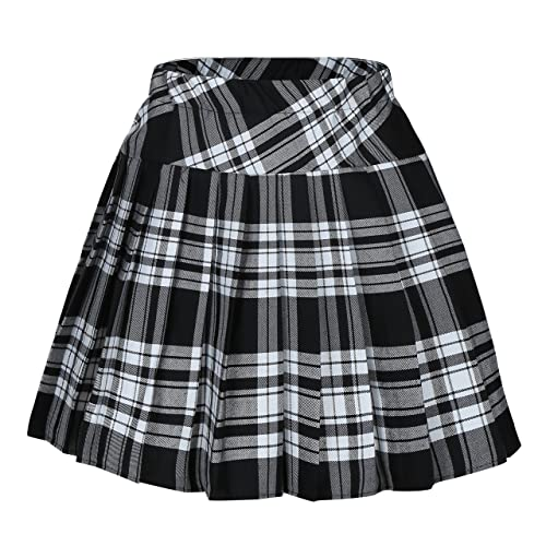 Women's Black Plaid Skirts: Amazon.c