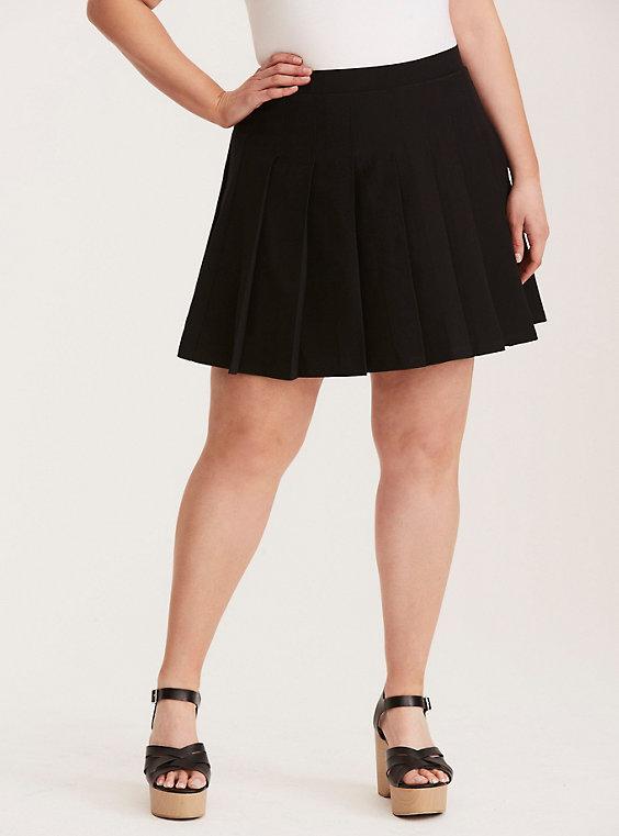 Plus Size - Crepe Pleated Skirt - Torr