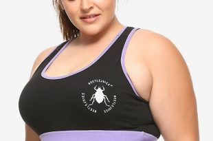 Beetlejuice Showtime Sports Bra Plus Si