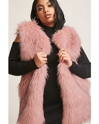 Special Prices on Plus Size SHACI Faux Fur Ve