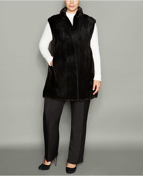 The Fur Vault Plus Size Mink Fur Vest & Reviews - The Fur Vault .