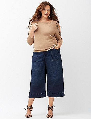 5 flattering ways to wear plus size cropped pants - curvyoutfits.c
