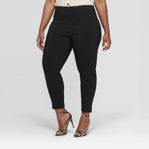 Women's Plus Size Skinny Ankle Cropped Pants - Who What Wear™ : Targ