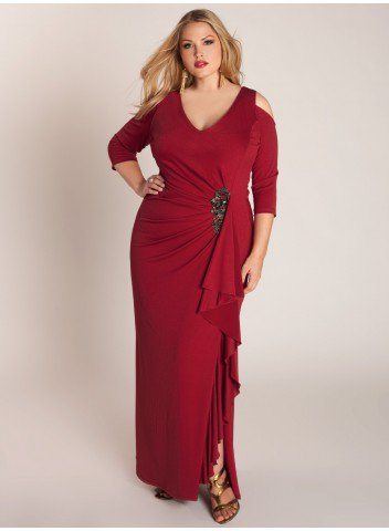 Darius Cordell Long Sleeve Special Occasion Dresses for Plus Size .