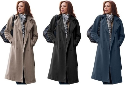 Plus Size Trench Coat The Limitless Options | Sera-Fox.c