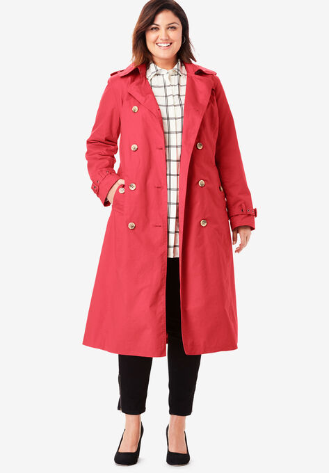 Long Trench Coat| Plus Size Trench & Raincoats | Roaman