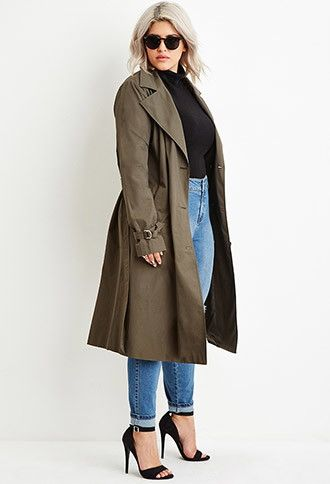 Plus Size Double-Breasted Trench Coat | Forever 21 PLUS - Find it .