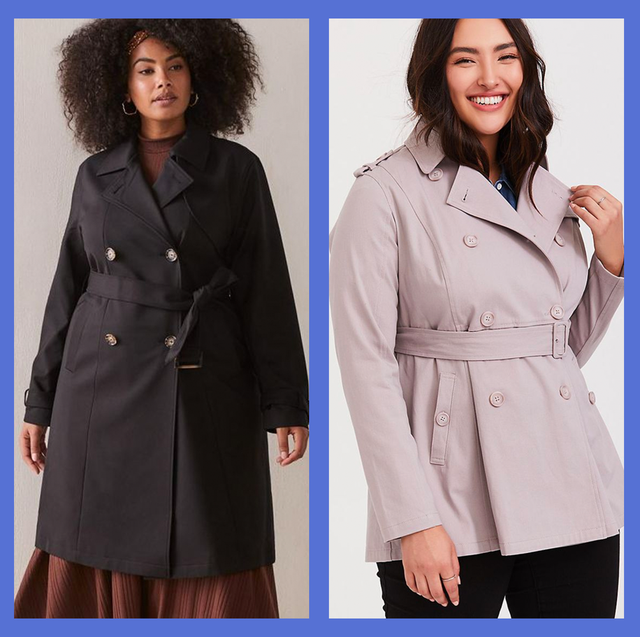 10 Best Plus Size Trench Coats — Plus Size Women Rain Coa