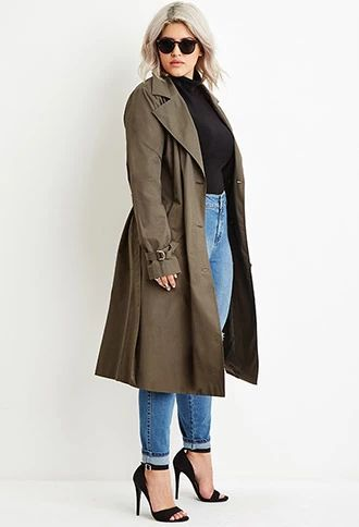Plus Size Double-Breasted Trench Coat | Plus size gir